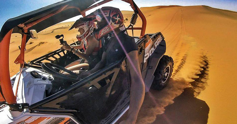 Buggies and Quads through the desert of Morocco in Merzouga